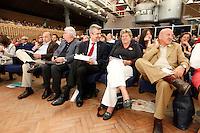 NAPOLI 15/06/2012 CONFERENZA NAZIONALE PER IL LAVORO DEL PARTITO DEMOCRATICO.NELLA FOTO CENTRELLA BONANNI DAMIANO CAMUSSO ANGELETTII.FOTO CIRO DE LUCA.