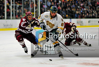 23 January 2009: University of Vermont Catamount forward Viktor Stalberg, a Junior from Gothenburg, Sweden, in action against the University of Massachusetts Minutemen during the first game of a weekend series at Gutterson Fieldhouse in Burlington, Vermont. The Catamounts defeated the visiting Minutemen 2-1. Mandatory Photo Credit: Ed Wolfstein Photo