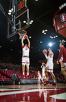 STANFORD, CA - January 26, 2019: Lukas Kisunas at Maples Pavilion. The Stanford Cardinal defeated the Colorado Buffaloes 75-62.