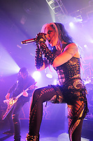 LONDON, ENGLAND - FEBRUARY 11: Alissa White-Gluz of 'Arch Enemy' performing at KOKO on February 11, 2018 in London, England.<br /> CAP/MAR<br /> &copy;MAR/Capital Pictures