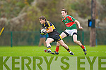 Crokes sub Chris Brady turns Joseph Hennesyy Loughmore/Castleineyduring the Munster Club championships in Killarney on Saturday