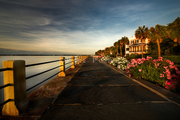 Another from my walk at sunrise on Charleston SC's historic Battery, in the spring. The historic Charleston Battery and the Charleston SC Area