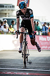 Wouter Poels (NED) Team Sky limps across the finish line with a broken drive train after crashing in the lead on the last bend at the end of Stage 3, The Al Ain Stage, of the 2015 Abu Dhabi Tour starting from the Al Qattara Souq in Al Ain and running 129 km to the mountain top finish at Jebel Hafeet at 1025 metres, Abu Dhabi. 10th October 2015.<br /> Picture: ANSA/Angelo Carconi | Newsfile