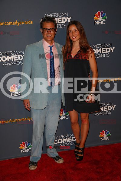 New York, New York - April 26 : Johnny Knoxville and guest attend the American Comedy<br /> Awards held at the Hammerstein Ballroom in New York, New York<br /> on April 26, 2014.<br /> Photo by Brent N. Clarke / Starlitepics /NortePhoto