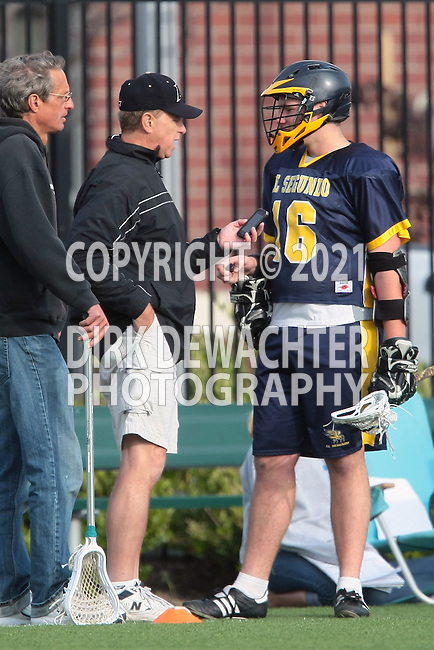 El Segundo, CA 04/27/10 - Coach Woodie and Brandon Miller (El Segundo # 16)