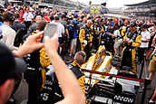 May 28th Indianapolis Speedway, Indiana, USA;  Fans surround the car of James Hinchcliffe, driver of the #5 Schmidt Peterson Motorsports Honda, before the start of the Indianapolis 500 on May 28th, 2017, at the Indianapolis Motor Speedway in Indianapolis, Indiana.