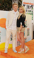 LOS ANGELES, CA - MARCH 31: Cody Simpson and Alli Simpson arrive at the 2012 Nickelodeon Kids' Choice Awards at Galen Center on March 31, 2012 in Los Angeles, California.