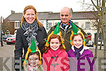 St Patricks Day Parade, Listowel: Taking part in the Listowel St.Patrick's Day parade in Listowel were Aisling & Jose Miranda & their daughters Boetriz, Isabell & Alicia from Derry , Listowel & Litterkenny.