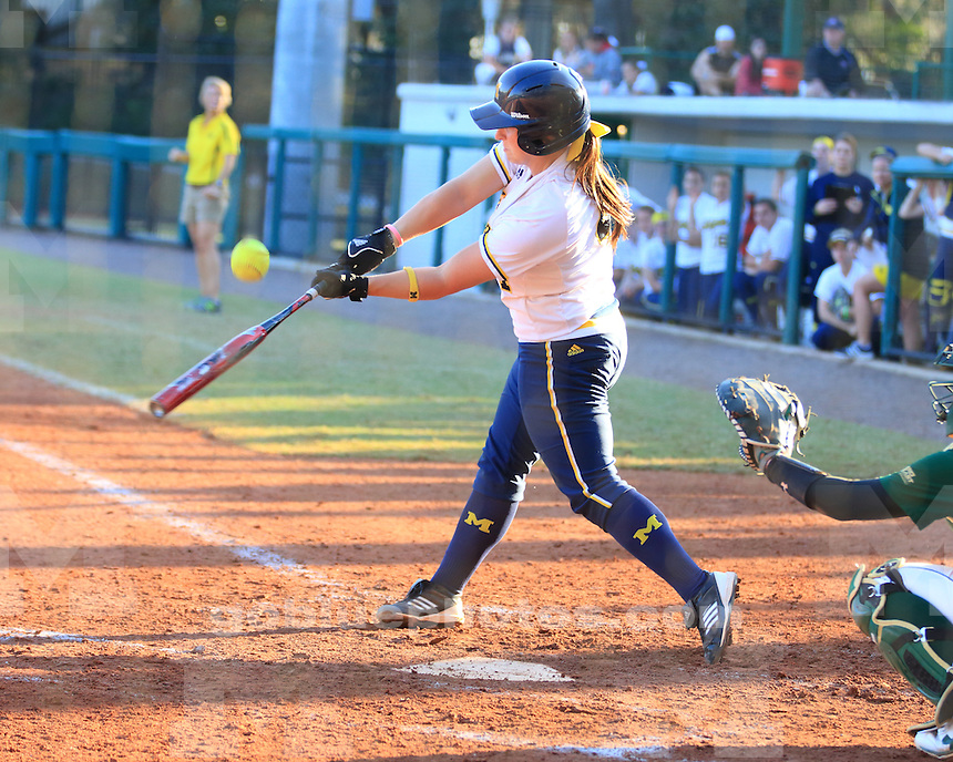 The University of Michigan softball team lost to No. 12 South Florida, 3-2, at the University of South Florida Tournament in Tampa, Fla., on February 9, 2013.