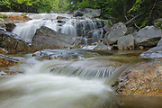 A small cascade on the Swift River, near the Sawyer River Trail, in the White Mountains town of Livermore, New Hampshire. during the summer months.