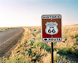USA, Arizona, Historic Route 66 and road sign