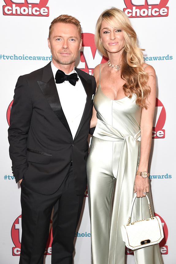 Ronan and Storm Keating<br /> arriving for the TV Choice Awards 2017 at The Dorchester Hotel, London. <br /> <br /> <br /> ©Ash Knotek  D3303  04/09/2017