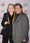 HOLLYWOOD, CA - NOVEMBER 05: Actress Gena Rowlands (L) and guest arrive at the AFI FEST 2015 presented by Audi Opening Night Gala Premiere of Universal Pictures' 'By The Sea' at TCL Chinese 6 Theatres on November 5, 2015 in Hollywood, California.