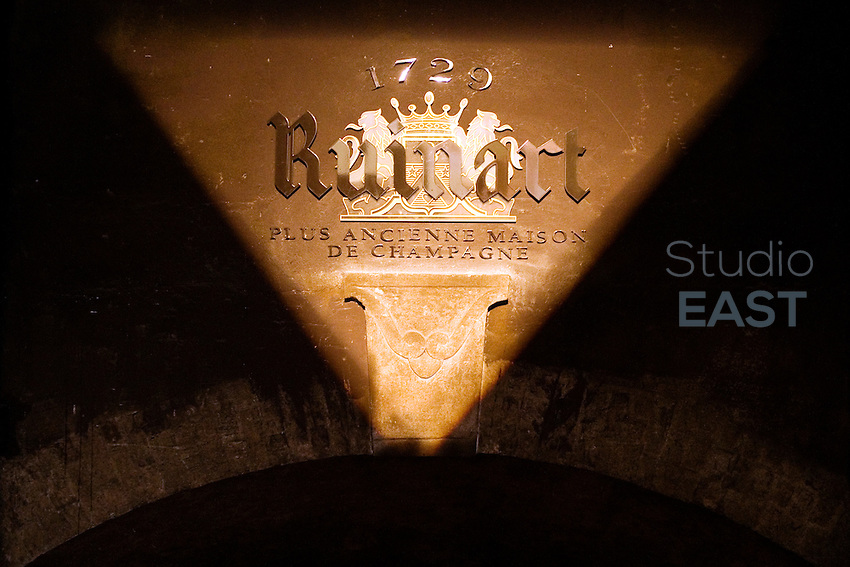 Entrance to the cellars of Ruinart, in Reims, France on June 9, 2012. Ruinart is the oldest established Champagne house, exclusively producing champagne since 1729. Founded by Nicolas Ruinart the house is today owned by parent company LVMH Moët Hennessy Louis Vuitton SA. Photo by Lucas Schifres/Pictobank