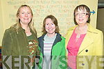 Cuckoo: Pictured at the Tarberts Bridewell on Friday night for the official launch of The Cuckoo Walking Fesival are: Eithne Griffin, Frances Lavery & Mary Carmody, Tarbert
