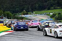 12th July 2020; Spielberg, Austria;  Porsche Mobil 1 Supercup race day;  Start 8 Julian Hanses D, Lechner Racing Middle East 4 Jean-Baptiste Simmenauer F, Lechner Racing Middle East held at Spielberg Austria