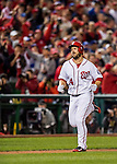 13 October 2016: Washington Nationals outfielder Chris Heisey rounds the bases after hitting a two-run homer in the 7th inning of the NLDS Game 5 against the Los Angeles Dodgers at Nationals Park in Washington, DC. The Dodgers edged out the Nationals 4-3, to take Game 5, and the Series, 3 games to 2, moving on to the National League Championship against the Chicago Cubs. Mandatory Credit: Ed Wolfstein Photo *** RAW (NEF) Image File Available ***