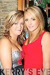 CELEBRATING: Michelle O'Leary, Killarney, and Amanda Kelleher, Killorglin, celebrating New Year's Eve in the Fa?ilte Bar, Killarney.   Copyright Kerry's Eye 2008