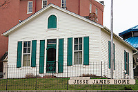 The Jesse James Home Museum is located at 12th and Penn in St Joseph, Missouri. The outlaw Jesse James was shot and killed in this house on April 3, 1882 by Bob Ford. The museum is open 10 a.m. to 5 p.m. Monday thru Saturday and 1-5 p.m.  on Sunday April to October. And November thru March 10 a.m. to 4 p.m. and 1-5 p.m. Sunday. Admission is $2 adults, $1.50 seniors and $1 for students under 18.