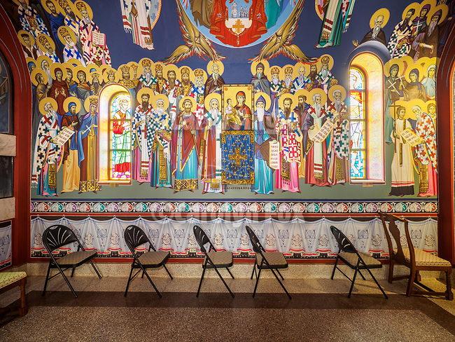 St. Sava Church at the monastery, Libertyville, Illinois.<br /> <br /> Iconography written by Miloje Milinkovic