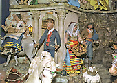 Washington, DC - December 4, 2000 -- Detail of the traditional White House creche in the East Room of the White House in Washington, D.C. on December 4, 2000.   It was made in Naples, Italy in the late eighteenth century.  It was a gift to the White House in 1967 from Mrs. Charles Engelhard, Jr., of Nantucket, Massachusetts.  It has been displayed every year since 1967 in the East Room..Credit: Ron Sachs - CNP