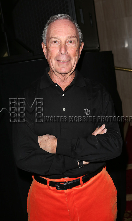 """Michael Bloomberg  backstage at Bette Midler's New York Restoration Project's Annual """"Hulaween in the Big Easy"""" at  the Waldorf Astoria on October 31, 2013  in New York City."""