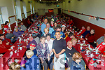Halle Lé Chile, Brandon hosted senior citizens from Ballyferritor, Ventry, Dingle, Camp, Castlegregory, Cloghane and Brandon for the annual Christmas dinner last Tuesday Dec 10th and the people who made it possible were, standing front, L-R Clíona&Garaldine O'Dowd and Kalim Stanley, with Dr Kate Tuffrey, Brian Murphy, Geared Ó  calhasaigh, Caítriona Ní Churráin, James Murphy, Shelia O'Connor and Zoe Moriarty.