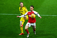 Fleetwood Town's Conor McAleny vies for possession with Burton Albion's Stephen Quinn<br /> <br /> Photographer Richard Martin-Roberts/CameraSport<br /> <br /> The EFL Sky Bet League One - Saturday 15th December 2018 - Fleetwood Town v Burton Albion - Highbury Stadium - Fleetwood<br /> <br /> World Copyright © 2018 CameraSport. All rights reserved. 43 Linden Ave. Countesthorpe. Leicester. England. LE8 5PG - Tel: +44 (0) 116 277 4147 - admin@camerasport.com - www.camerasport.com