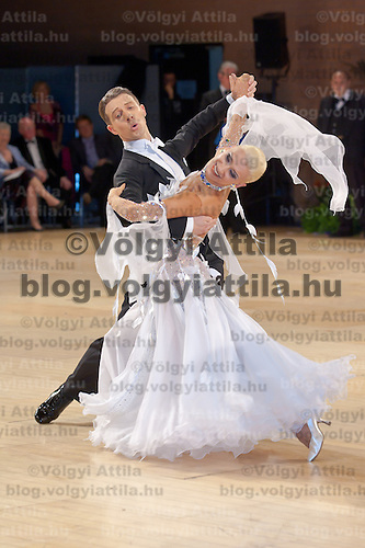 Arunas Bizokas & Katusha Demidova dancing for USA perdorm their dance during the Professional Ballroom competition of the United Kingdom Open Dance Championships held in Bournemouth International Centre, Bournemouth, United Kingdom. Wednesday, 20. January 2010. ATTILA VOLGYI