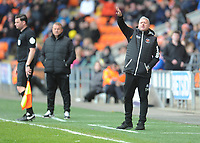 Blackpool's Manager Terry McPhillips shouts instructions to his team from the dug-out <br /> <br /> Photographer Kevin Barnes/CameraSport<br /> <br /> The EFL Sky Bet League One - Blackpool v Gillingham - Saturday 4th May 2019 - Bloomfield Road - Blackpool<br /> <br /> World Copyright © 2019 CameraSport. All rights reserved. 43 Linden Ave. Countesthorpe. Leicester. England. LE8 5PG - Tel: +44 (0) 116 277 4147 - admin@camerasport.com - www.camerasport.com
