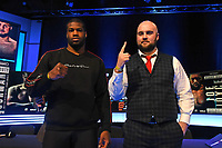 Daniel Dubois (L) and Nathan Gorman during a Press Conference at the BT Studio on 9th May 2019