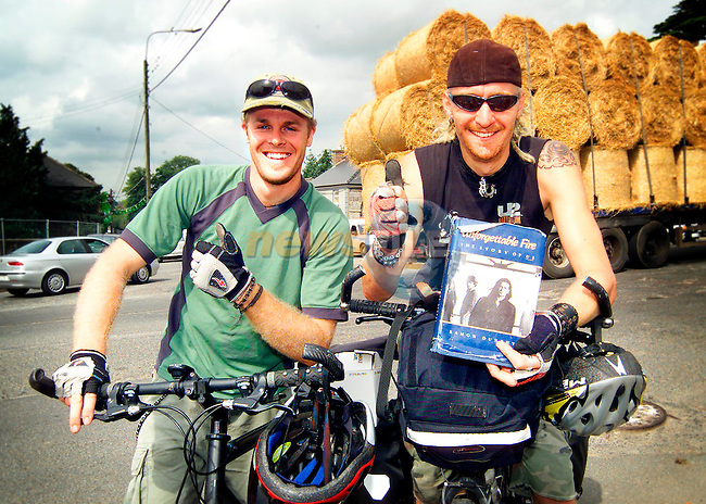 Richard Brittingham (26) from Sydney and Jarrod Harris (24) from Melbourne in Slane for the U2 concert on Saturday..Picture: Paul Mohan/Newsfile..SEE PAT FLANAGAN FOR COPY IN IRISH MIRROR