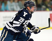 Antoine Laganiere (Yale - 28) - The Yale University Bulldogs defeated the Harvard University Crimson 5-1 on Saturday, November 3, 2012, at Bright Hockey Center in Boston, Massachusetts.