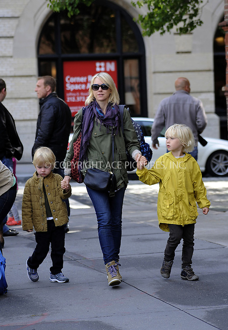 WWW.ACEPIXS.COM......May 15 2013, New York City....Actress Naomi Watts walks with her sons Sasha (R) and Sammy on May 15 2013 in New York City......By Line: Curtis Means/ACE Pictures......ACE Pictures, Inc...tel: 646 769 0430..Email: info@acepixs.com..www.acepixs.com