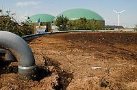 GERMANY agricultural farm with wind power, and Biogas plant at Nordstrand / DEUTSCHLAND , Bauernhof Kurt Maart mit Windenergie, und Biogasanlage mit Blockheizkraftwerk BHKW zur Strom- und Waermeerzeugung auf Nordseeinsel Nordstrand
