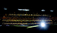 A pre match light show on the pitch ahead of the Carabao Cup semi final 1st leg match between Chelsea and Arsenal at Stamford Bridge, London, England on 10 January 2018. Photo by Andy Rowland.
