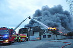 Louth Fire &amp; Rescue Service seen in attendence earlier at a Major Fire at vehicle compound in Haggardstown, Dundalk involving over 100 vehicles. Fire Crews from across Louth in attendance and still on scene.<br /> <br /> Picture: Pat O'Keeffe   Newsfile