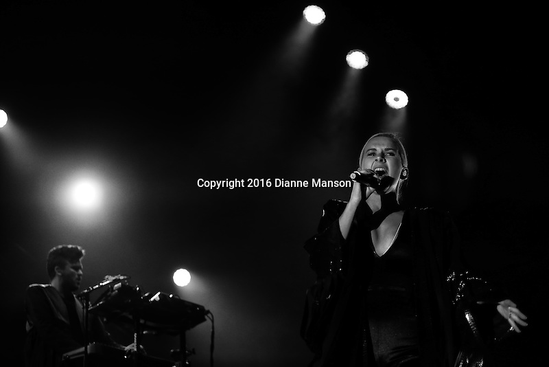 Broods perform at Horncastle Arena on July 14, 2016 in Christchurch, New Zealand.