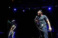 LONDON, ENGLAND - NOVEMBER 10: Andrew Fearn and Jason Williamson of 'Sleaford Mods' performing at Camden Roundhouse on November 10, 2016 in London, England.<br /> CAP/MAR<br /> &copy;MAR/Capital Pictures /MediaPunch ***NORTH AND SOUTH AMERICAS ONLY***