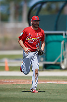 St. Louis Cardinals first baseman Stefan Trosclair (18) during a Minor League Spring Training Intrasquad game on March 28, 2019 at the Roger Dean Stadium Complex in Jupiter, Florida.  (Mike Janes/Four Seam Images)