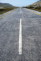 Dividing line on a highway road, South Western Cape, South Africa