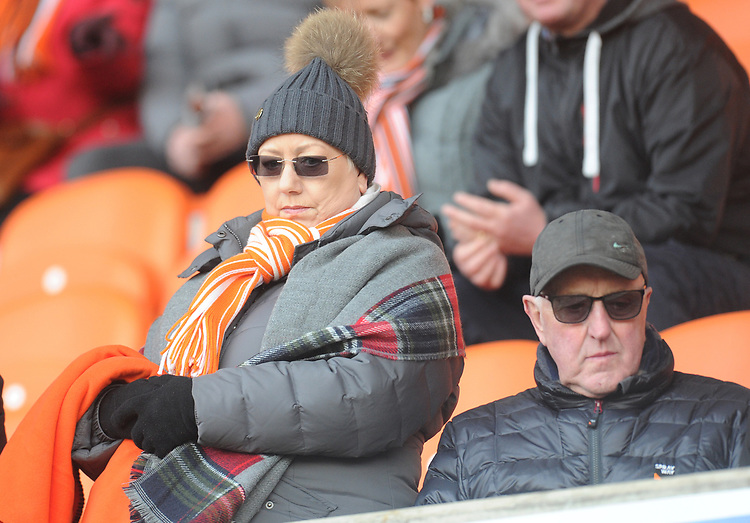 Blackpool fans enjoy the pre-match atmosphere <br /> <br /> Photographer Kevin Barnes/CameraSport<br /> <br /> The EFL Sky Bet League One - Blackpool v Walsall - Saturday 9th February 2019 - Bloomfield Road - Blackpool<br /> <br /> World Copyright &copy; 2019 CameraSport. All rights reserved. 43 Linden Ave. Countesthorpe. Leicester. England. LE8 5PG - Tel: +44 (0) 116 277 4147 - admin@camerasport.com - www.camerasport.com