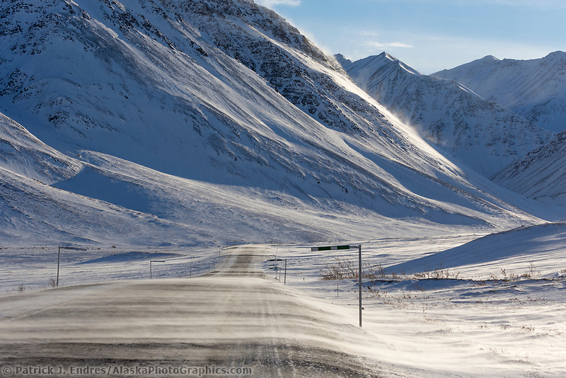 James Dalton Highway, Atigun Canyon, Arctic, Alaska.