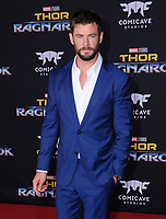 10 October  2017 - Hollywood, California - Chris Hemsworth. World Premiere of &quot;Thor: Ragnarok&quot; held at The El Capitan Theater in Hollywood. <br /> CAP/ADM/BT<br /> &copy;BT/ADM/Capital Pictures