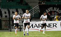 SÃO PAULO, SP,22 FEVEREIRO 2012 - CAMPEONATO PAULISTA - PORTUGUESA x CORINTHIANS - Ramirez (e) Jogador do Corinthians comemora gol  durante partida Portuguesa x Corinthians válido pela 9º rodada do Campeonato Paulista no Estádio Paulo Machado de Carvalho (Pacaembu), na região oeste da capital paulista na noite desta quarta feira (22). (FOTO: ALE VIANNA -BRAZIL PHOTO PRESS).