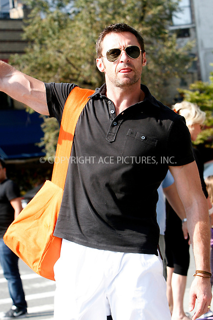 WWW.ACEPIXS.COM . . . . .  ....September 23, 2010....Actor Hugh Jackman walks through Soho on September 23, 2010 in New York City.......Please byline: NANCY RIVERA - ACEPIXS.COM.... *** ***..Ace Pictures, Inc:  ..Philip Vaughan  (646) 769 0430..e-mail: info@acepixs.com..web: http://www.acepixs.com