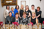 Double the Fun.Marie Moloney, Duagh and Josephine Fitzgerald, Knocknagoshel (seated 2nd & 3rd Lt) celebrated their birthdays last Saturday night in Bella Bia, Tralee, also seated is Breda McGaley (far Lt) and Lorraine Fitzgerald ( far Lt). Back L-R Teresa Walshe, Helen Cussack, Eileen Long, Natasha O'Connor, Kitsy Fitzgerald with Marie and Dolly  Mangan.