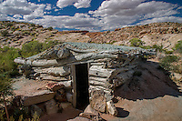 Wolfe Ranch in Arches National Park.<br /> <br /> In the late 1800s, John Wesley Wolfe came west<br /> because of health problems related to a Civil<br /> War injury. He left his wife and three of his<br /> children in Etna, Ohio. His oldest son, Fred,<br /> came with him as he looked for a place to settle.<br /> Wolfe raised cattle here, eventually grazing<br /> more than a thousand head on the plentiful<br /> grass of the time. Although the sandy soil was<br /> poor, water was the key to successful living.<br /> The alkaline water of Salt Wash supplied<br /> Wolfe&rsquo;s cattle and a garden; a freshwater spring<br /> nearby provided drinking water for people.
