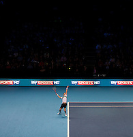 Andy Murray (GBE) (5) against Rafael Nadal (ESP) (1) in the semi-finals. Rafael Nadal beat Andy Murray 7-6 3-6 7-6..International Tennis - Barclays ATP World Tour Finals - O2 Arena - London - Day 7 - Sat 27 Nov 2010..© Frey - AMN Images, Level 1, Barry House, 20-22 Worple Road, London, SW19 4DH.Tel - +44 208 947 0100.Email - Mfrey@advantagemedianet.com.Web - www.amnimages.photshelter.com