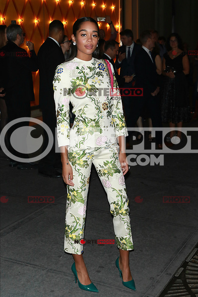 NEW YORK, NY - OCTOBER 20: Laura Harrier at Bvlgari Flagship Fifth Avenue Store Reopening on October 20, 2017 in New York City. Credit: Diego Corredor/MediaPunch /NortePhoto.com
